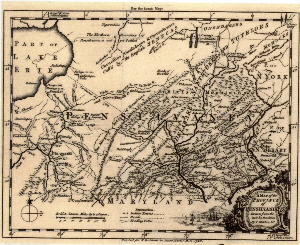 1756 Map of Pennsylvania