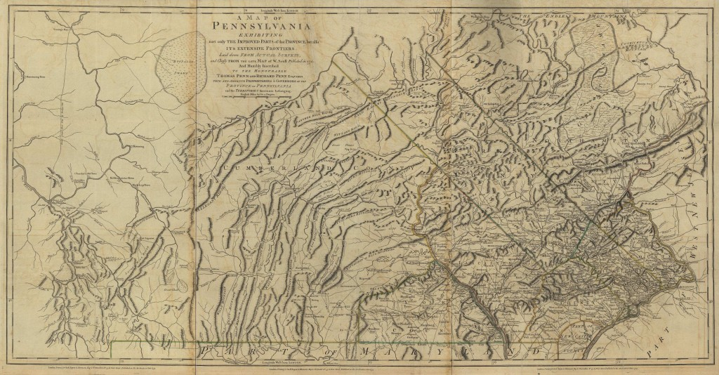 1770 Map of Pennsylvania