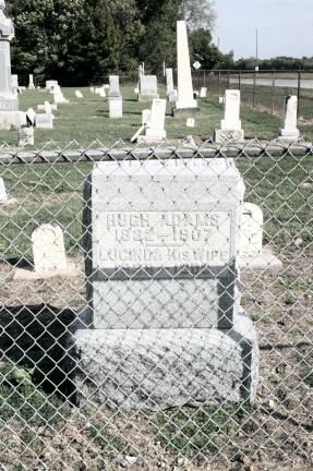 Hugh Adams and Lucinda Tombstone A - Carey Cemetery, Hamilton, Indiana